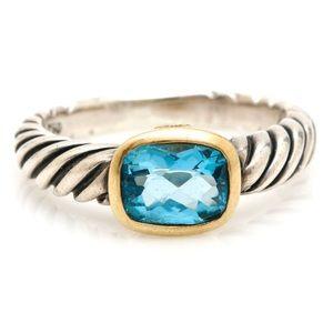 David Yurman Color Classics Blue Topaz Ring